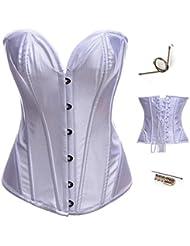 Palacio Europa retroceso yiyinglun v profunda vintage acero formar del cuerpo ropa interior vestidos de Novia de corset para hacer corsés de las mujeres de la ropa de plástico , white , xxl