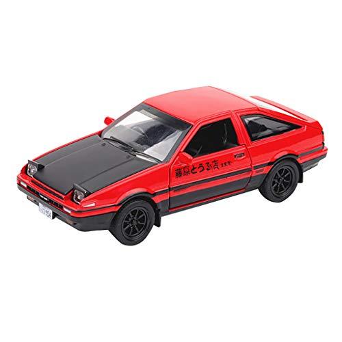 Jamicy® 1/32 Toyota Sprinter Trueno AE86, Legierung Auto Spielzeug Dekoration Spielzeug Auto-Modell für Kinder (Rot Schwarz)