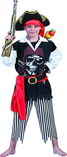 kostüm mit Totenkopfschädel für Kinder, 152-158, 12-13 Jahre, Mehrfarbig ()