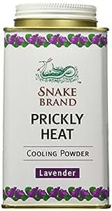 Snake Brand Prickly Heat Cooling Powder Lavender (150g)