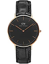 Daniel Wellington Damen-Armbanduhr 36mm Daniel Wellington Classic Black Reading Rosa Gold dw00100141