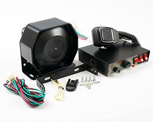 Set von 200W 8Kanäle Sound Laut Auto Warnung Alarm Police Fire Sirene Horn PA Lautsprecher Mikrofon System Auto Pa-system Mikrofon