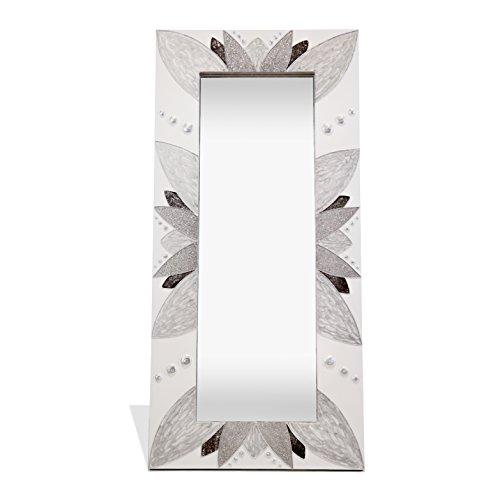 Lohoart L-1259-1 - Espejo Sobre Lienzo Pintado Artesanal, Espejo Pared Color Plata, Medidas: 150X70X15...
