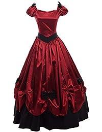 GRACEART Abito da Donna Vintage in Stile Vittoriano con Fiocco Bowknot e  Abito da Ballo Elegante d4c24b2800d1