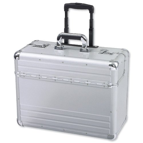 Alumaxx 45122 Omega Pilotenkoffer 2 Zahlenschlösser, 5,3 kg, Aluminium, 45122 silber