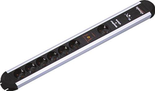Bachmann 333.071 Steckdosenleiste PRIMO 6+1xSchutzkontaktsteckdosen Master&Slave und Gerätevollschutz, Zuleitung 1,75m Schwarz