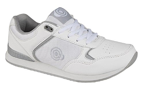 DEK Kitty & Lady Skipper scarpe da bowling da donna White/Grey PU/Textile