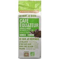 Ethiquable Café Moulu Equateur Bio et Équitable 250 g Paysans Producteurs. - Lot de 4
