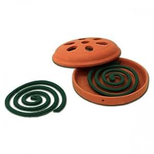 Pot en terre cuite diffuseur + 2 spirales anti-moustiques