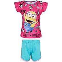 Minions Despicable Me Chicas Pijama mangas cortas - fucsia