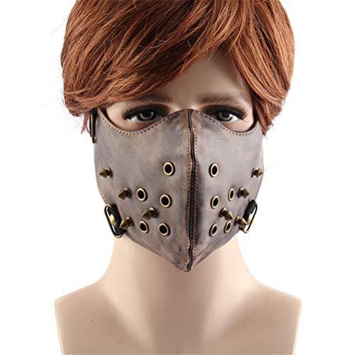 Jiahe Persönlichkeit Maske Half Face Anti Staub Cosplay Airsoft Wind Cool Punk Halloween Maskerade Maske mit Gummiband (Makeup-tipps Halloween Skelett)