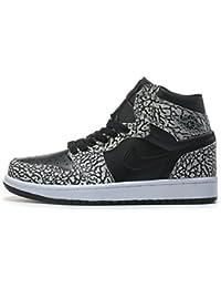 outlet store 66b63 0a3f4 DANTOP Air Jordan 1 Retro Prm GS Black Elephant Black Gym Basketballschuhe  Herren