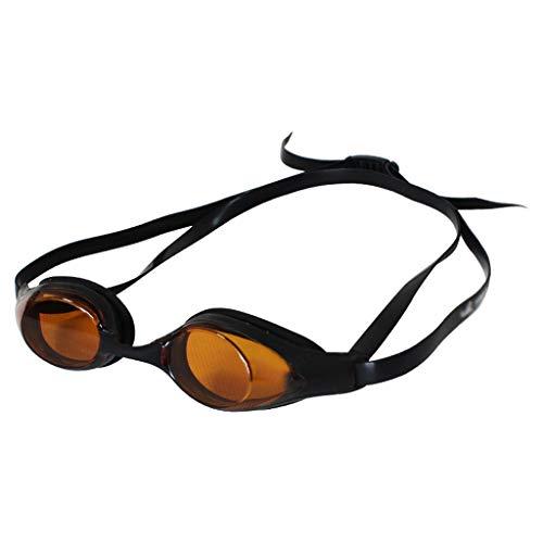 ZTMN Schwimmbrille HD Männer und Frauen Bequeme Brille transparent wasserdicht Anti-Fog Erwachsene große Vision (Farbe: BRAUN)