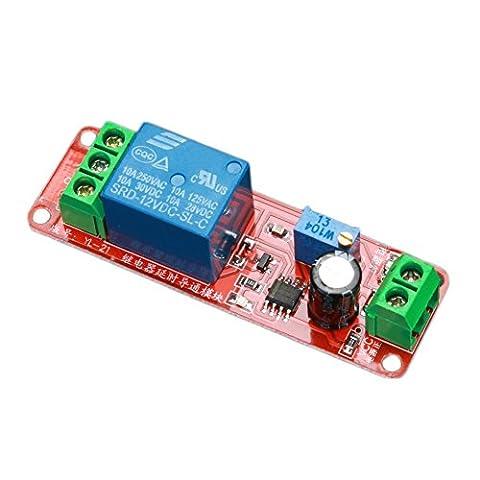 Daorier Retard Interrupteur à minuterie 12V module de relais réglable de 0à 10Second Ne555Circuit intégré électrique Home Automation