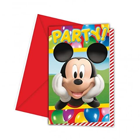 Mickey Mouse Party Time - Mickey Mouse Party Invitations x 6