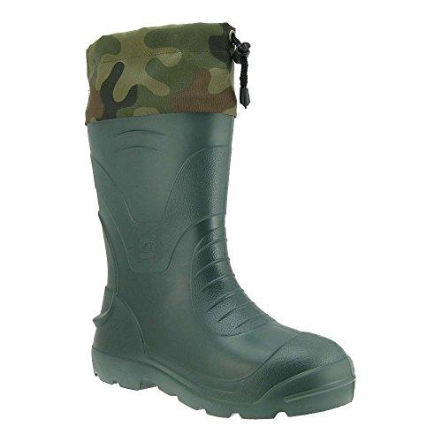 Gallux Herren Gummistiefel Camouflage Stulpe Grün (CA-045 Dark Green) EU 42