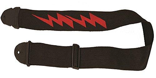 LM Produkte ps-4lb Siebdruck Gitarrengurt, Lightning Bolt (Bolt Seide)