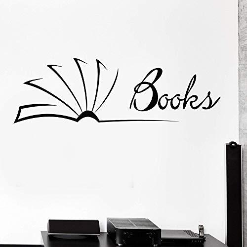 woyaofal Vinyl Wandtattoos, Bibliothek, Klassenzimmer, Bücher Bookstore Reader Bookstore Aufkleber Home Wohnzimmer Schlafzimmer Wand Dekorativ 138x42cm