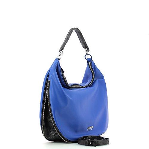 Handtaschen Damen, color Grau , marca ARMANI JEANS, modelo Handtaschen Damen ARMANI JEANS PADDED PAK R Grau BLU/NERO