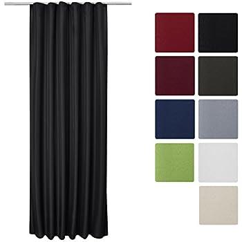 Ikea VIVAN Doppelpack Gardine schwarz 145 x 300 cm: Amazon.de