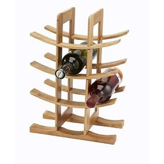 Industrias Aldaya S.L. 12-block Bambus Flaschen Rack, braun, 58x 17x 48cm