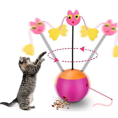 Haustier Katze Tumbler Training Spielzeug Elektrisches spielendes Spielzeug-interaktives Spielzeug,Whirl Cat Balls Tumbler Kätzchen Spielzeug,Multifunktionales IQ-Trainingsspielzeug -