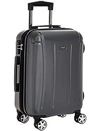 Amazon Brand - Solimo 56.5 cm Hardsided Luggage, Grey