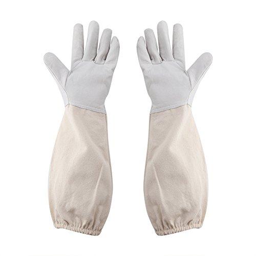 Delaman Imkerei Handschuhe Imker Schutzhandschuhe mit Langen Canvas Sleeve, Anfänger Bienenzucht Arbeitswerkzeug (Size : XXXL)