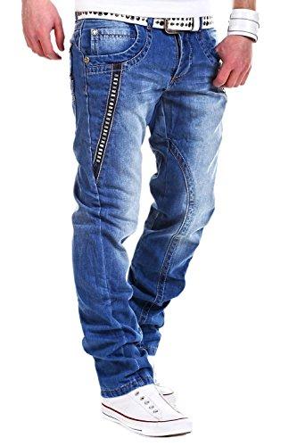 MT Styles Jeans mit Nieten Blau 63006 [W32/L32]