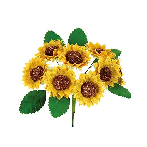 Alice's decorations fiori per bomboniere girasole 72 pezzi