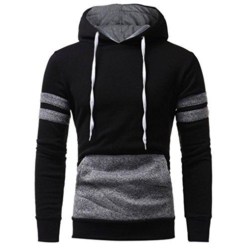 Herren Tops, feiXIANG Herren Langarm Camouflage Hooded Sweatshirt Wappen Schwarz