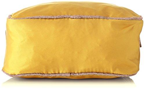 Bensimon Damen Small Besace Umhängetasche, 11x20x26 centimeters Gelb (Jaune)
