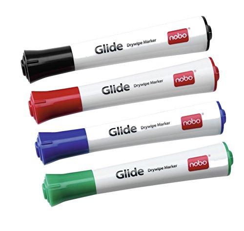 nobo-glide-pennarelli-cancellabili-a-secco-confezione-da-4-in-colori-assortiti