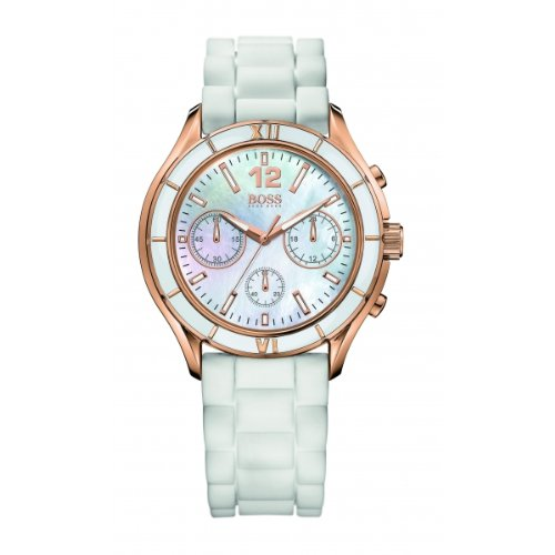 Hugo Boss – 1502274 – Ladies Watch – Analogue Quartz – Mother of Pearl Dial – White Silicone bracelet