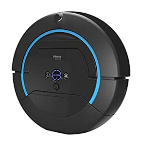 irobot scooba 450 nasswisch roboter 3 stufen reinigungssystem schwarz blau. Black Bedroom Furniture Sets. Home Design Ideas