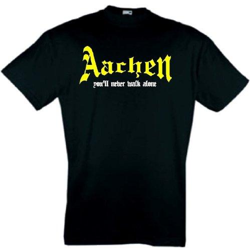 world-of-shirt Herren T-Shirt Aachen You`ll never walk alone