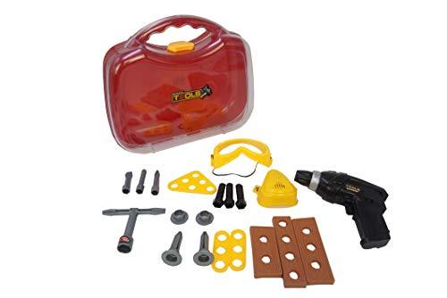 MD-DEAL Bohrschrauber Akkuschrauber elektrisch Rechts- Linkslauf Kinderspielzeug 20 TLG.