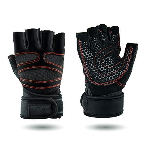 Upgrade (L) Premium Fitness Handschuhe für Kleingeräte und Krafttraining | Atmungsaktiv | Schnelltrocknend | mit Klettverschluss | Unisex Design | Anti-Rutsch Beschichtung