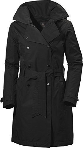 Helly Hansen W Welsey Trench Insulated Jacke Wasserdicht Rell, Damen XXXL 990 schwarz -