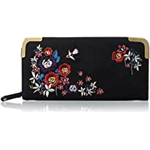 New Look Embroidered Zip - Monedero mujer Talla única