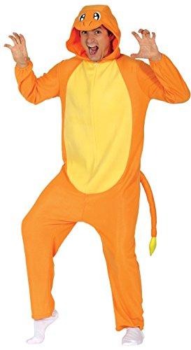 Guirca–Kostüm Erwachsene Drache, Orange, Größe 52–54(84626.0)