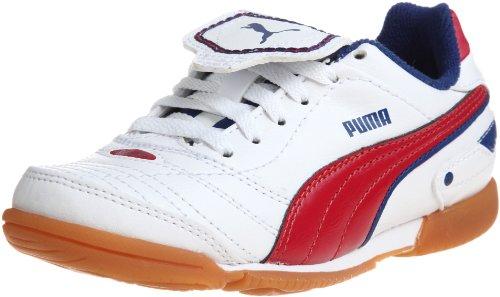 Puma Unisex-Kinder Esito Finale IT Jr Fußballschuhe, Weiss (White-Ribbon red-Limoges 07), 29 EU