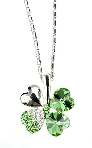 Demarkt Collar trébol a 4 hojas de cristal Collar de mujer Colgante M