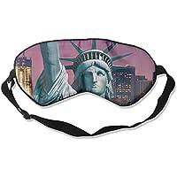 Eye Mask Eyeshade Statue of Liberty Picture Sleeping Mask Blindfold Eyepatch Adjustable Head Strap preisvergleich bei billige-tabletten.eu