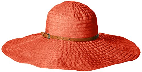 san-diego-hat-company-womens-6-inch-brim-ribbon-sun-hat-with-wired-sun-brim-coral-one-size