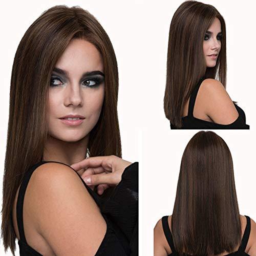 WZCXYX Perruque Longue pour Femme, Cheveux de Fibre Haute température de Simulation 55cm, Perruque de soirée de Bal/Date/Cheveux raides