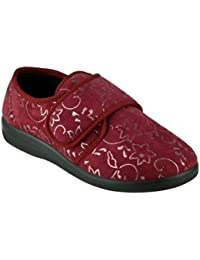 f9207d31736 GBS Med Poole Ladies Slippers Touch Fastening Casual Modern Wahable Shoes  New
