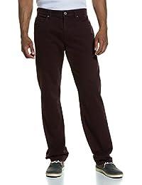 JP 1880 Herren große Größen 5-Pocket Hose | Punktdruck | Regular Fit | bequeme Oberschenkel- und Beinweite | normale Fußweite | bis Größe 33 bordeaux 66 706470 50-66