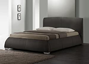 5ft King Size Napoli Brown Faux Leather Bed..Fantastic Modern Contemporary Design RRP £469 NOW ONLY £229