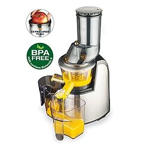 MACOM Just Kitchen 859 Perfect Juice Estrattore Di Succo / Slow juicer a freddo e a lenta rotazione per frutta e verdura con bocca larga 75 mm. - 2020 -